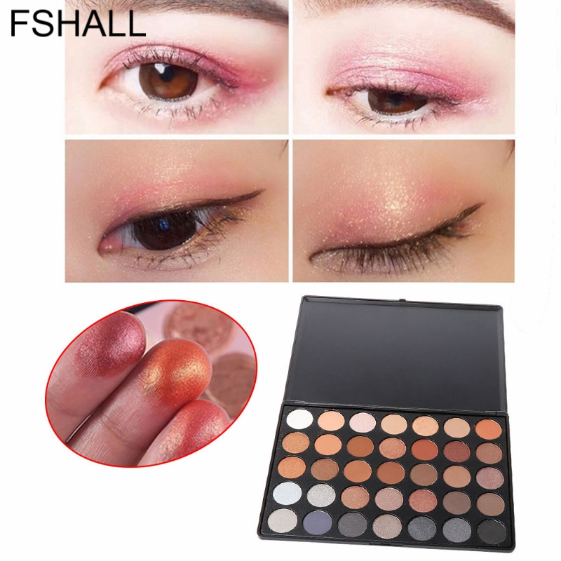 35 Color Eye Shadow Makeup Cosmetic Matte Eyeshadow Palette Set Smoky/Warm Color Last long for party /makeup/wedding Makeup