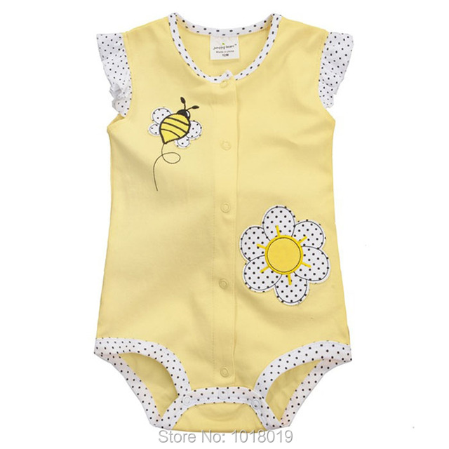 26f5fff92983 New 2019 Summer 100% Cotton Ropa Bebe Brand Newborn Baby Girls ...