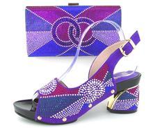 2017 neue design Italienische Schuhe Mit Passenden Taschen Afrikanische Frauen Schuhe Und Taschen In Lila Gute Verkauf