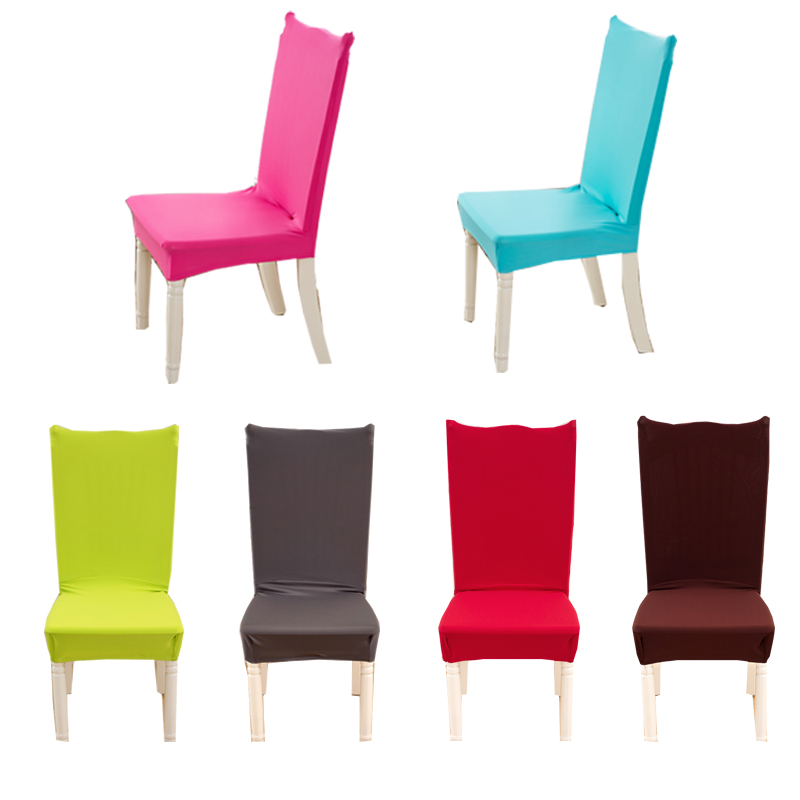 LFH color sólido stretch comedor Fundas para sillas máquina lavable ...