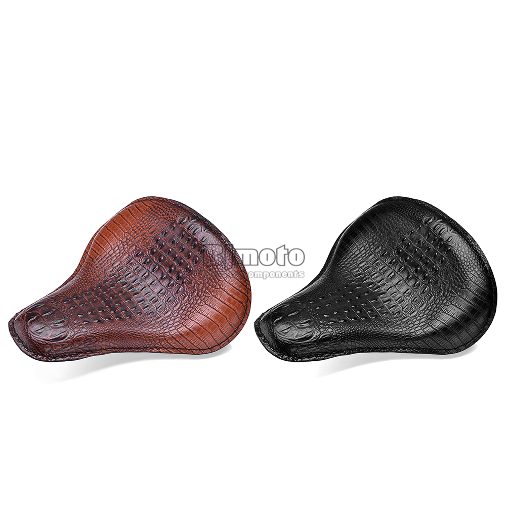 Leather Solo Slim Seat Mount for Harley Sportster Bobber Chopper (12)