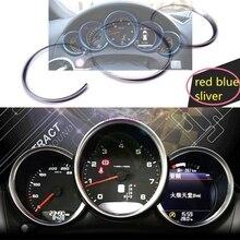 0d545796a 3 ألوان سيارة داش مجلس لوحة الديكور الطوق ملصق سيارة-التصميم لبورشه Macan  911 كايين
