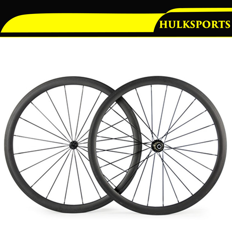 Carbon Wheels 700C 25mm Width 38mm Clincher Racing Bicycle Wheels Road Bike Carbon Wheelset Clincher with Powerway R51 Hub carbon wheels 700c 25mm width 38mm clincher racing bicycle wheels road bike carbon wheelset clincher with powerway r51 hub