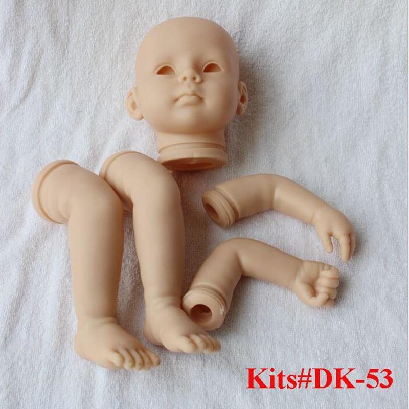 Reborn Doll Kits pour 20 pouces Souple Vinyle Reborn Baby Poupées Accessoires pour DIY Réaliste Toys pour DIY Reborn Poupées Kits # dk-53
