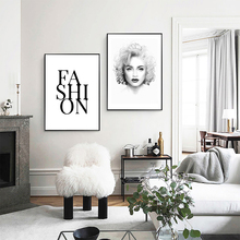 Marilyn Monroe Canvas Painting Nordic Posters And Prints Black and White Wall Art Decoration Pictures For Living Room Unframed