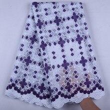 2019New высокое качество швейцарское молочное шелковое фиолетовое кружево швейцарская вышивка африканская сухая кружевная ткань Высокое качество нигерийские женские Шитье