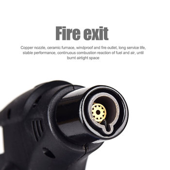 1pc Butane Lighter Torch Refillable Adjustable Flame Lighter Chef Cooking Torch BBQ Ignition Picnic Tool Dropshipping 1