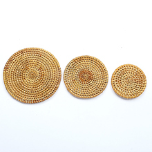 Japanese Style Rattan Tea Pot Mats High Quality Natural Cup Pad Kung Fu Ceremony Accessorie Hand Made Heat Resistant Mat