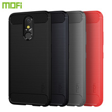 MOFi For LG K40 K12 PLUS Case Shockproof Carbon Fiber Soft TPU Anti-Knock Cover Cases Capa Coque