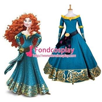 Película Cosplay Princess Nueva A Medidag1320 Versión Disfraz Hecho Brave Merida Vestido SUpGLqzMV
