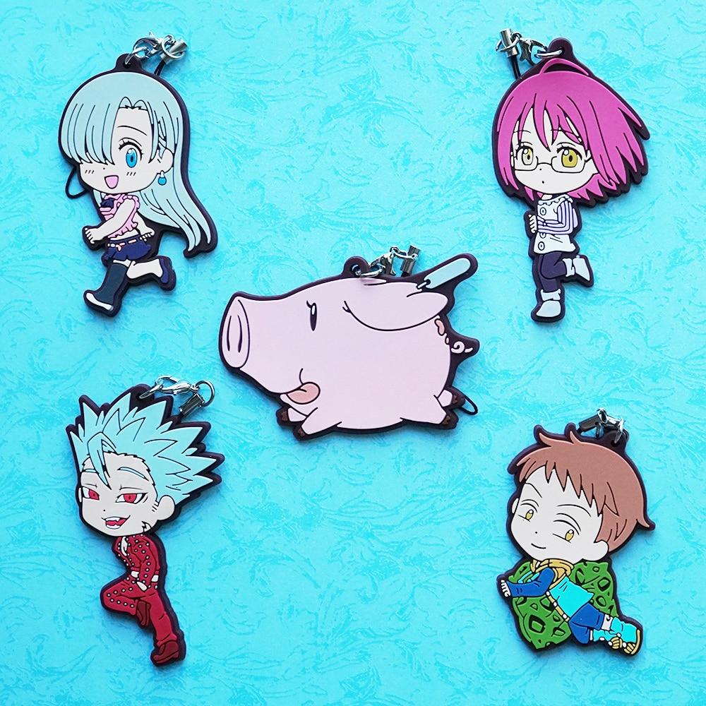 King Elizabeth Hawk Ban Gowther Anime The Seven Deadly Sins Nanatsu No Taizai Rubber Keychain anime the seven deadly sins meliodas
