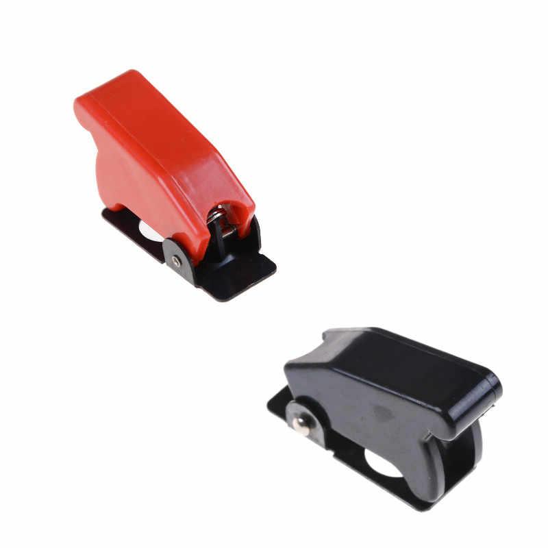 Czerwony czarny 12mm ON-OFF przełącznik dwupozycyjny z pokrywa ochronna
