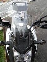 2017 Airflow Adjustable Windscreen Gray Aluminum Block For Honda Yamaha Suzuki Kawasaki BMW KTM Aprilia Ducati