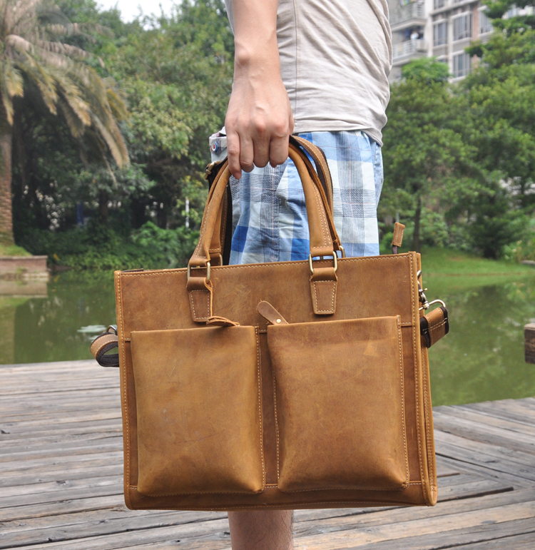 Genuine Cowhide Leather Crossbody Briefcase Handbag Laptop iPad Bag Man Men Male File Messenger Document Portfolio Bag Tote 1053 portable genuine leather man briefcase economic document bag 7060309