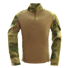 Camouflage Light Weight Rapid Assault Long Sleeve Frog Shirts Mens Tactical Gear Military Airsoft Special Ops Combat Elbow Shirt