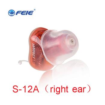 Feie Mini CIC niewidoczne aparaty słuchowe w uchu cyfrowe aparaty słuchowe głuchy aparat słuchowy dla osób w podeszłym wieku S-12A tanie i dobre opinie Digital CIC hearing aid Completely in the ear Convenient hidden clear voice Programming with audiogram Red for right ear blue for left ear