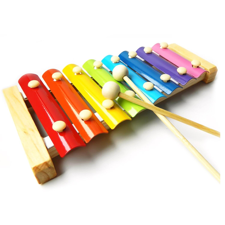Holzspielzeug Xylophon Metallophon Holz Bambus bunt Musik Kinder Holzspielzeug Instrument