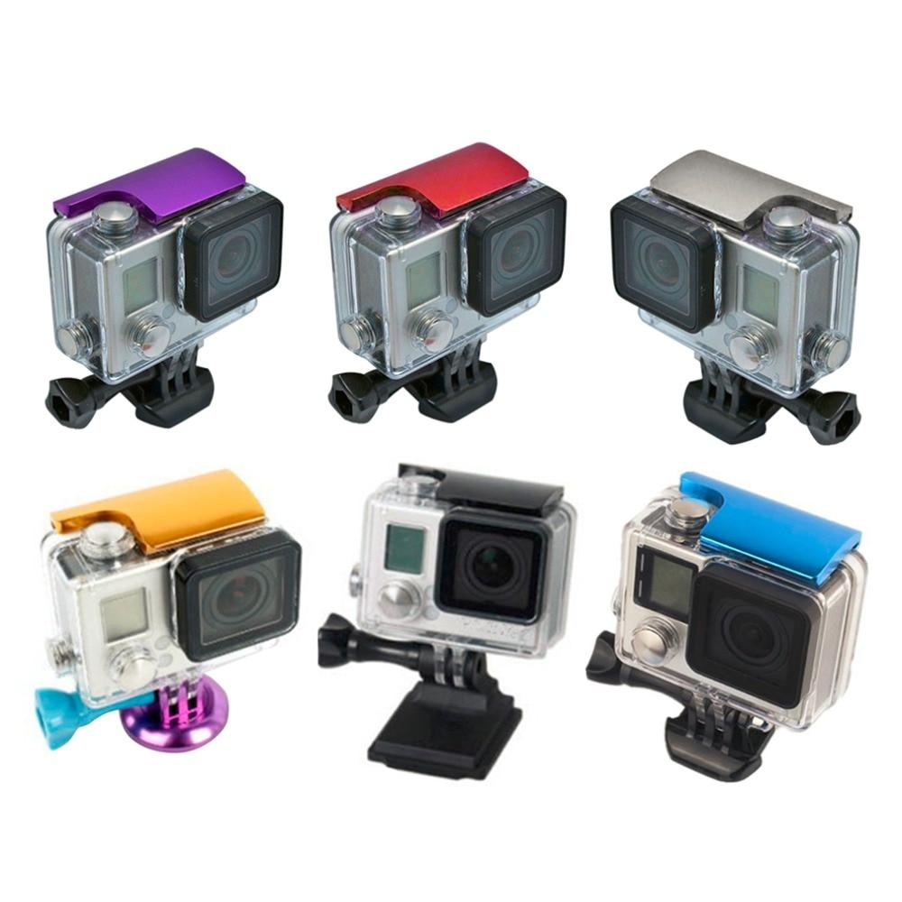 В Наличии! 1 Шт. Алюминиевого Сплава Задняя Дверь Клип Замок Безопасности Пряжки для GoPro Hero 4/3 + новое