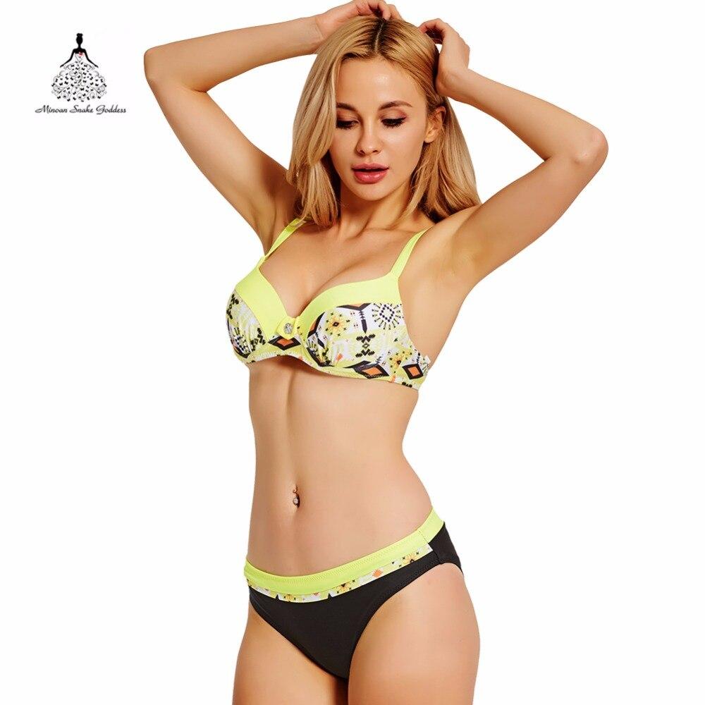 Bikini Maillot de Bain Femme Imprimé Géométrique maillot de bain maillots de bain femmes grandes tailles maillots de bain push up bikini Moyen taille Maillot de Bain
