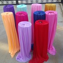 Ijs zijde materiaal bruiloft decoratie road lead cover voor party event banket leverancier 5 stuks veel