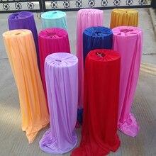 Materiale di seta del ghiaccio decorazione di nozze piombo strada fornitore copertura per evento banchetto della festa 5 pezzi un sacco