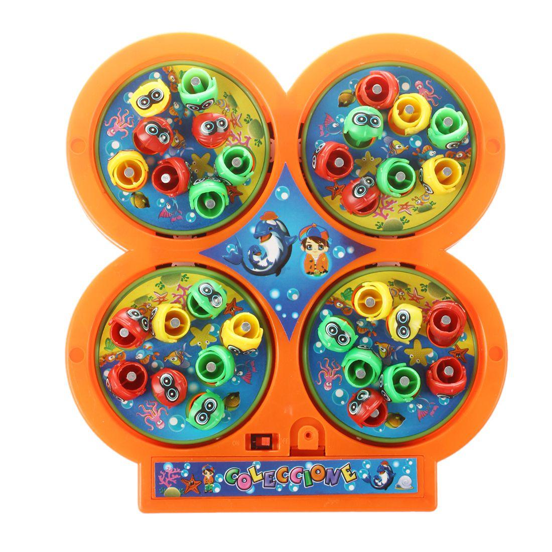 Разные цвета Go Рыбалка игры Электрический вращающегося магнитного магнит рыбы игрушки малыша развивающие Игрушечные лошадки