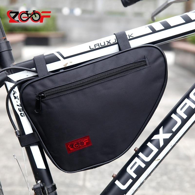 Zocoo New Waterproof lieljaudas velosipēdu somas priekšējā rāmja galvai Trīsstūris somas kalnu velosipēdu uzglabāšanas maisiņš, velosipēdu soma