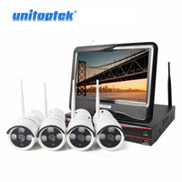 10 1 Inch Display LCD NVR 4Ch 8Ch 720P Wireless Camera Kit Plug And Play Night
