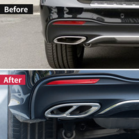 Exhaust Pipe Cover Trim for Mercedes Benz A W176 B W246 C W205 E w213 GLC GLE w166 c292 coupe 350d GLS amg Class accessories