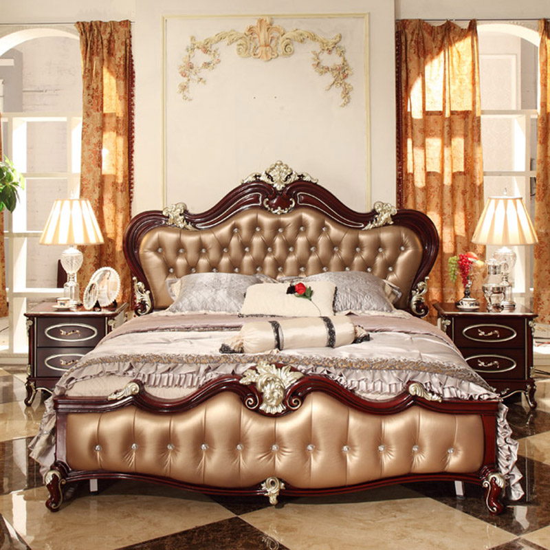 European Style Double Bed 1 8 M Bed Retro Classic French