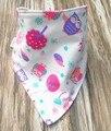 3 unids/set Bandana Del Bebé Baberos Super Suave 100% del Algodón del bebé baberos baberos slabbers bavoir babador baberos para bebés a prueba de agua color de la mezcla