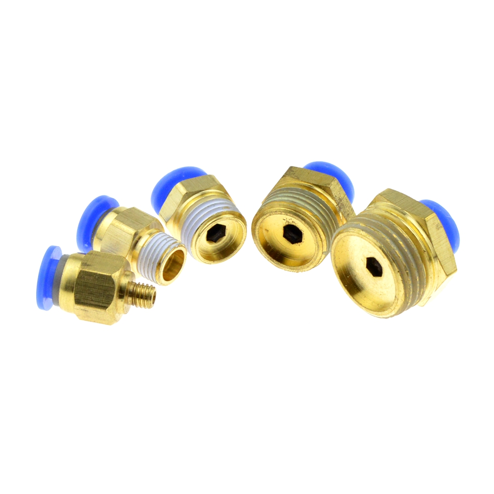 Pneumatic 6mm OD Hose Tube 1/4PT 1/8 3/8 1/2 BSPT M5 Male Thread Push In Joint Air Gas Connector Quick Fittings 9 pcs 3 8 pt male thread 8mm push in joint pneumatic connector quick fittings