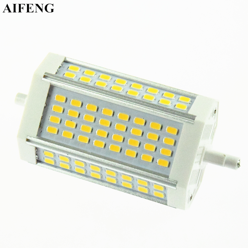 AIFENG R7s Led Light 30W 3000LM Aluminum Lamp SMD 5730 64Led 118mm J118 R7s Spotlight Replace Halogen Floodlight Lamp AC 85-265V lexing r7s 10w 980lm 30 smd 5730 led warm white light project lamp ac 85 265v