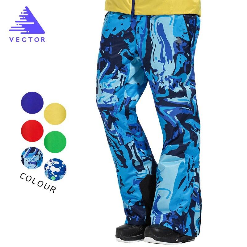 VECTOR Professional Winter Ski Pants Men Warm Windproof Waterproof Snow Skiing Snowboard Pants Outdoor Winter Trousers