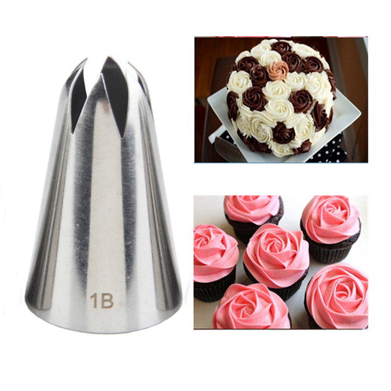 # 1B 큰 케이크 장식 노즐 제빵 Sugarcraft 퐁당 도구 파이 파이 팁 Bakeware KH068