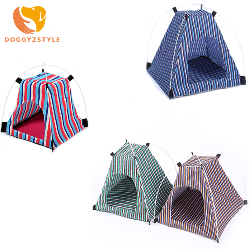Portable Folding Dog House Sun Beach Tent Indoor Outdoor Waterproof Pet Tent Dog Bed Crate Summer For Dogs Cats DOGGYZSTYLE