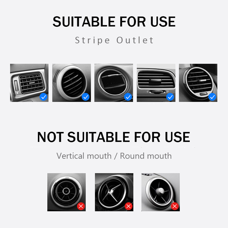 KCAR1017_7_Universal Car Phone Holder For Phone In Car Air Vent Mount Stand No Magnetic Mobile Holder Gravity Bracket for iPhone XS XR Huawei