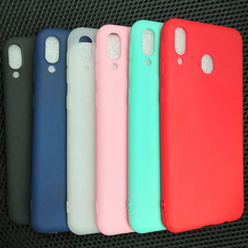 Candy Colors Silicone Soft Case For Samsung Galaxy M20 M10 M30 M40 A10 A20 S A10S A20S A30 A40 A50 A20E A60 A70 S8 S9 S10 Case