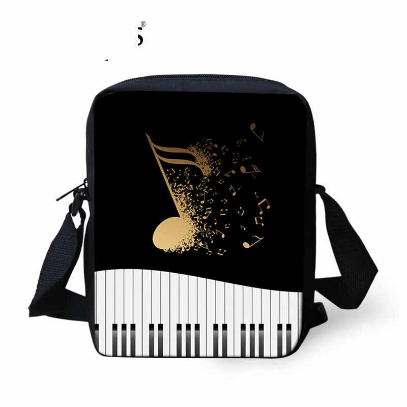 Fashion Brand Woman Mini Crossbody Bags Music Note/Piano Keyboard Printed Female Messenger Bags Travel Shoulder Bags Sumka