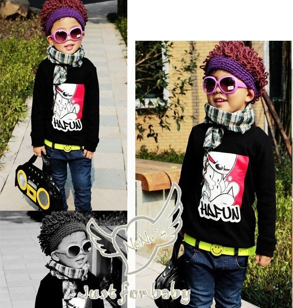 Free Shipping 10pcs/lot fashion kids imitation hair hat/ knitted infant hat