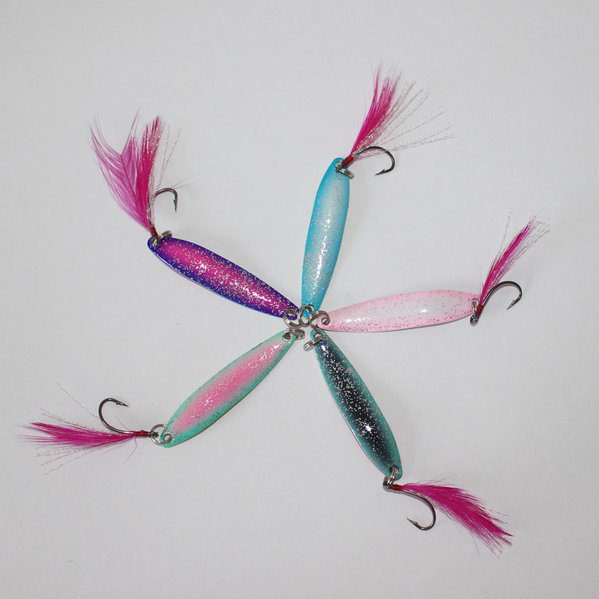 hot sale 100pcs lot fishing lure 5cm 3g 5g colorful spoon lure fishing bait artificial trout