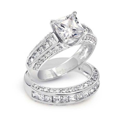 size 5 10 fashion jewelry amazon hot sale 6mm cz jewelry 10kt white gold filled - Wedding Rings Amazon