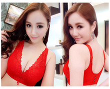 YG548 No rims lace bra ultrathin together adjustment lady underwear sports bra