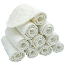 10 шт./партия детские тканевые подгузники, вкладыши для подгузников, многоразовые хлопковые подгузники для новорожденных, моющиеся подгузники для маленьких мальчиков и девочек