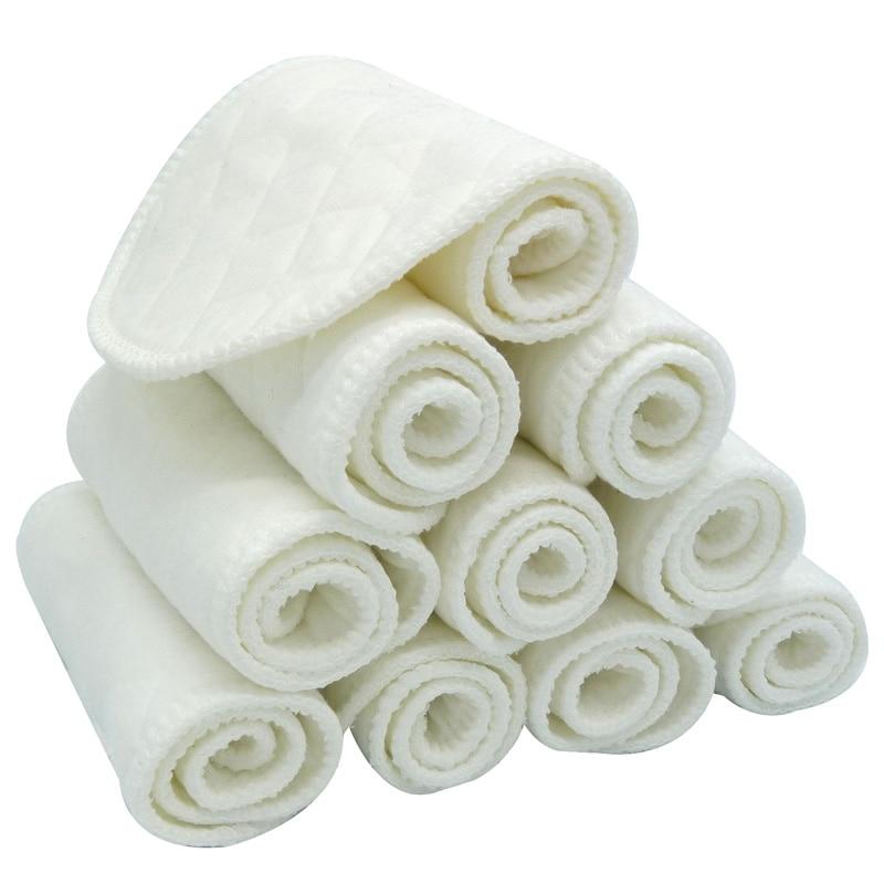 10 шт./лот, детские тканевые пеленки, вкладыши для подгузников, многоразовые хлопковые подгузники для новорожденных, моющиеся подгузники для мальчиков и девочек
