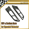 Car-styling For Hyundai Veloster Carbon Fiber Inner Door Handle Side Panel LHD (Stick on Type)