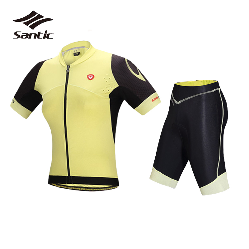 Santic Women Short Sleeve Cycling Clothing MTB Ropa-ciclismo Mountain Road Bike Jersey Sets Bicycle Skinsuit Maillot Ciclismo