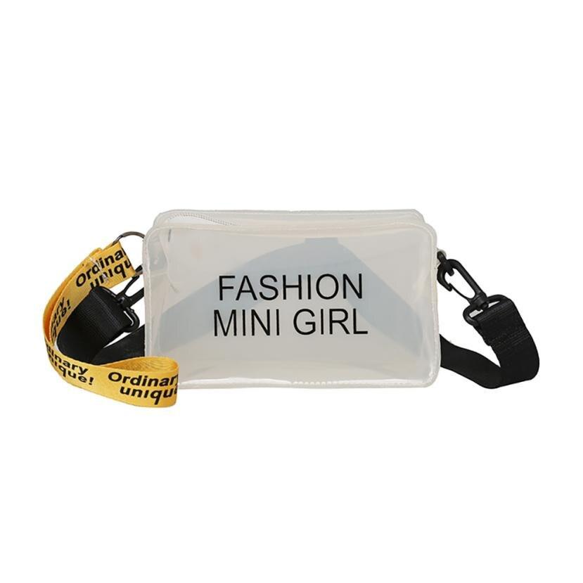4d79662a88a3 New Design Women Transparent Bag Clear PVC Jelly Small Tote Summer Beach Bag  Messenger Bags Female