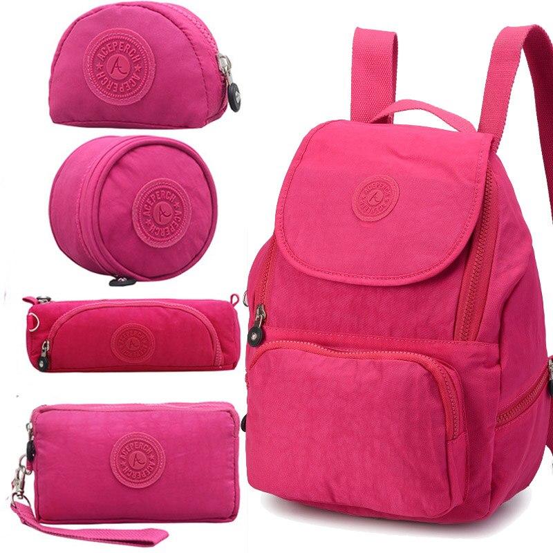 ACEPERCH Women Kiple Preppy Style Women Backpack