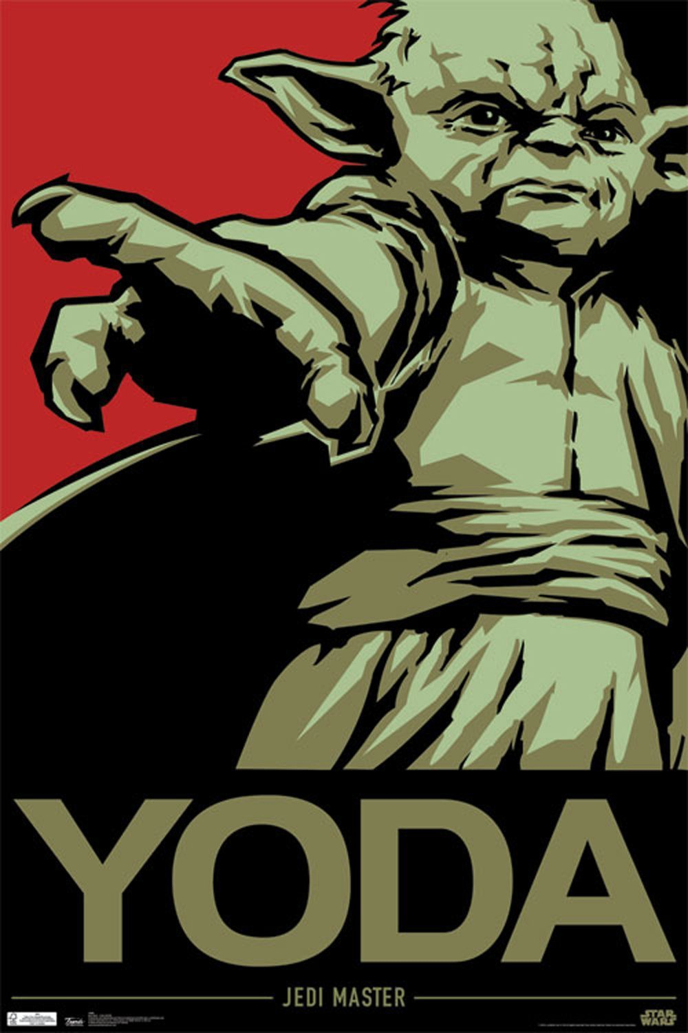 Novelty Print Your Own Picture On Room Wall Cool Star Wars Yoda Poster Wall  Sticker By